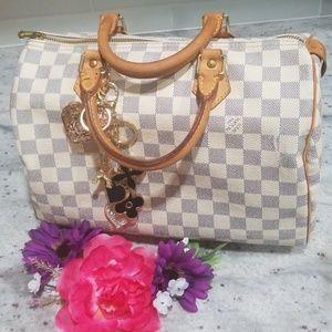 Authentic Louis Vuitton Damier Azur speedy 30 bag